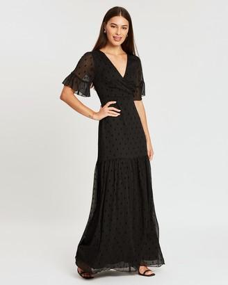 Atmos & Here Willow Flutter Sleeve Maxi Dress