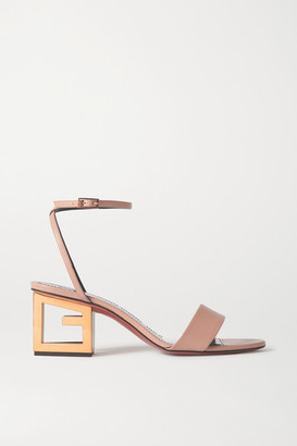 Givenchy Triangle Leather Sandals - Beige