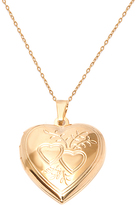 Sweet & Soft Gold Engraved Heart Photo Locket Necklace