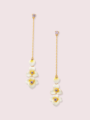 Kate Spade Precious Pansy Linear Earrings