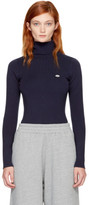 See by Chloe Navy Logo Turtleneck