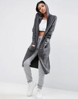 Asos Lounge Maxi Cardigan With Hood