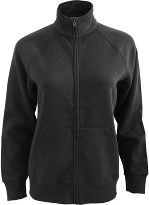 Fruit of the Loom Ladies/Womens Lady-Fit Fleece Sweatshirt Jacket (XL) (Black)