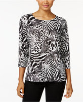 JM Collection Gel-Dot Jacquard Top, Only at Macy's