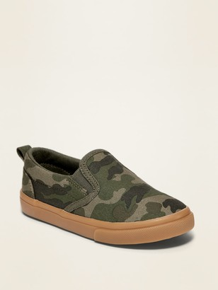 Old Navy Camo-Print Canvas Slip-Ons for Toddler Boys