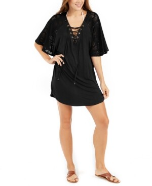 Thumbnail for your product : Dotti Resort Lace-Up Tunic Cover-Up Women's Swimsuit