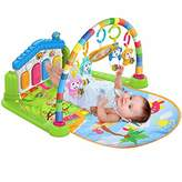 Surreal SM 3 in 1 Baby Play Mat and Activity Gym with Piano - Music and Lights - Green - Suitable from Birth.