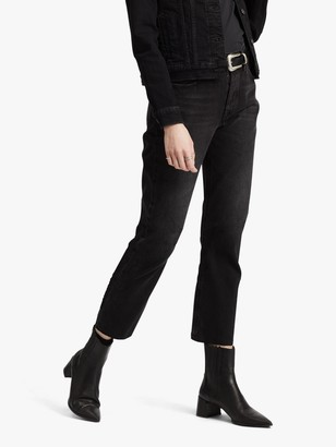 Levi's 501 Cropped Jeans, Black Heart