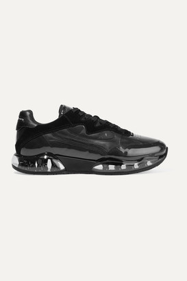 Alexander Wang Stadium Leather, Suede, Pvc And Mesh Sneakers - Black