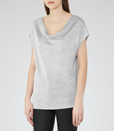 Reiss Evadine Metallic Top