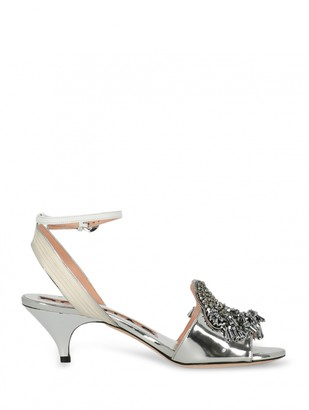 Rochas Silver Patent leather Sandals