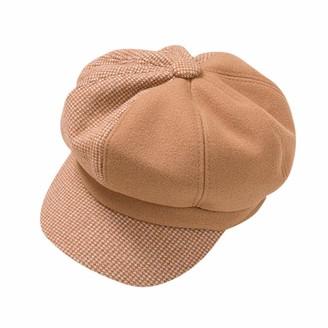 Honestyi Children Girls Stretch Beret Hat Retro Wool Pure Color British Style Painter Head Scarf Wrap Hat Cap