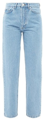 A.P.C. Martin High-rise Stonewashed Straight-leg Jeans - Light Denim
