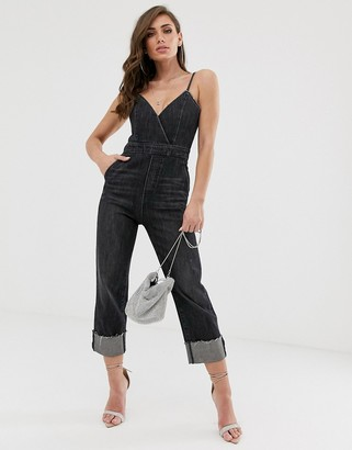 Miss Sixty strappy detail denim jumpsuit