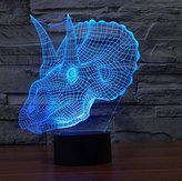 3D Lamp Dinosaur Overlord Triceratops Gift Acrylic Night light Furniture Decorative colorful 7 color change household Home Accessories Table Lighting