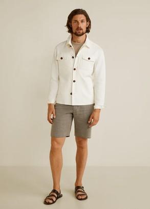 MANGO Pocket linen cotton jacket