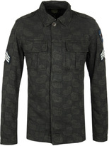 Pretty Green Paisley Millennium Moss Green Military Jacket