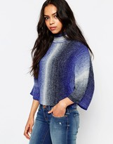 Only Gradient High Neck Pull Over Sweater