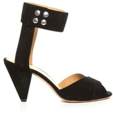Etoile Isabel Marant Meegan cone-heel suede sandals