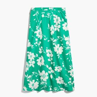 J.Crew Satin-back crepe A-line midi skirt