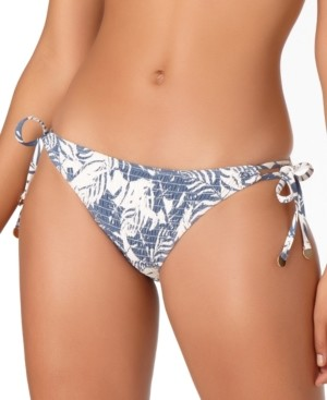 Anne Cole Studio Smocked-Front Tie-Side Bikini Bottoms Women's Swimsuit