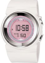 Casio Women's Baby-G BGD102-7 White Resin Quartz Watch with Dial