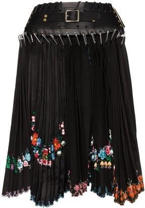 Chopova Lowena Floral Scalloped Skirt