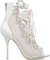 Sophia Webster Selina embroidered satin heeled sandals