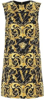 Versace Baroque Logo Printed Shift Dress