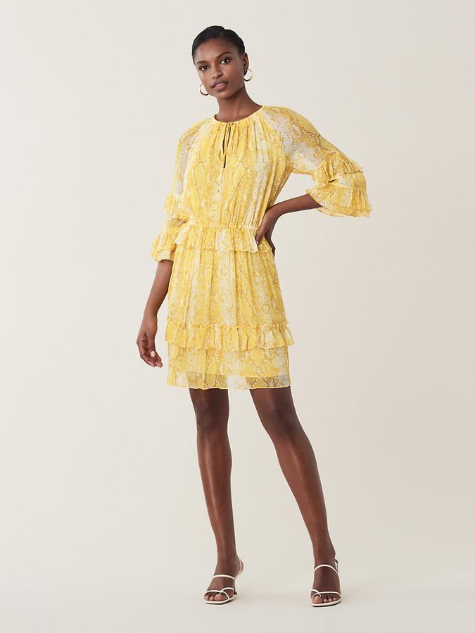 906937ccc6c Yellow Chiffon Dresses - ShopStyle