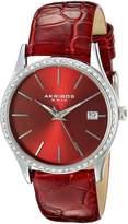 Akribos XXIV Women's AK883rd Round Dial Three Hand Quartz Stainless Steel Strap Watch