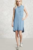 Forever 21 Sleeveless Chambray Shirt Dress