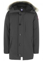 Canada Goose Chateau Charcoal Fur-trimmed Twill Parka