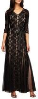 Alex Evenings Sequin Lace Mermaid Gown (Regular & Petite)