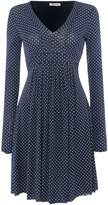 Marella PANFILO longsleeve mini dot dress