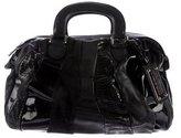 Dolce & Gabbana Snakeskin-Trimmed Handle Bag
