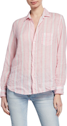 Frank And Eileen Long-Sleeve Striped Button-Down Top