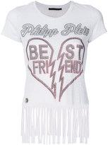 Philipp Plein fringed T-shirt