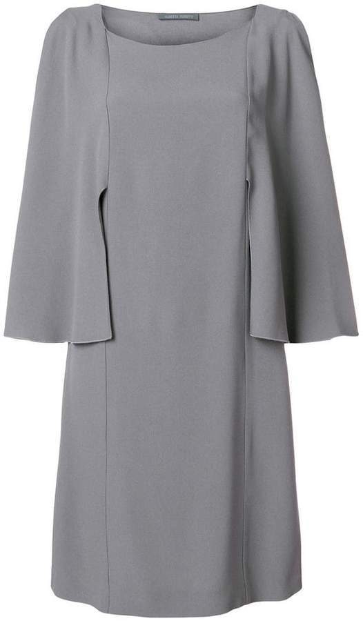 Alberta Ferretti tailored sleeve shift dress