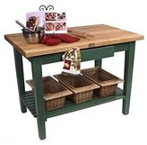 John Boos Rectangular Work Table (36 x 24 Basil Green w/o Shelf)