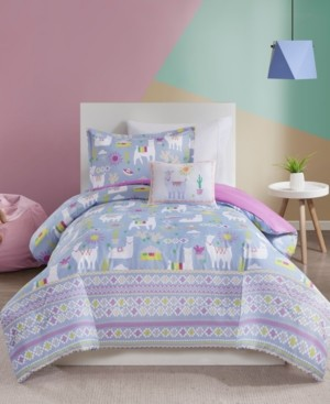 JLA Home Mi Zone Kids Andes Full/Queen 4 Piece Printed Llama Comforter Set Bedding