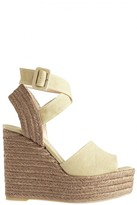 Castaner Zinc Linen Wedge Sandal
