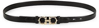 Salvatore Ferragamo Gancini Rolo Reversible Leather Belt