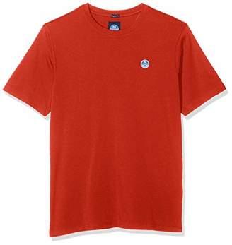 North Sails Men's T-Shirt S/s W/Logo Kniited Tank Top, (Ocean Blue 790.0), Medium