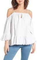 Blank NYC Women's Blanknyc Cold-Shoulder Swing Top