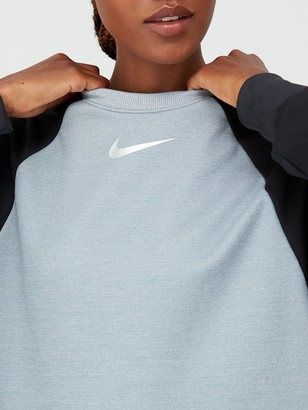 Nike Training Thermal Colourblock Sweatshirt - Light Grey Heather