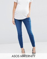 Asos Ridley Skinny Jean In Bailie Wash with Under The Bump Waistband