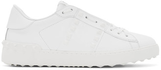 Valentino White Garavani Rockstud Untitled Sneakers