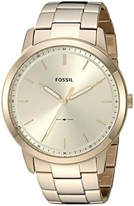 Fossil Men's The Minimalist 3H Quartz Stainless-Steel-Plated Strap