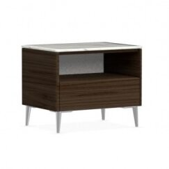 Calligaris Boston 1 - Drawer Nightstand Color: Smoke